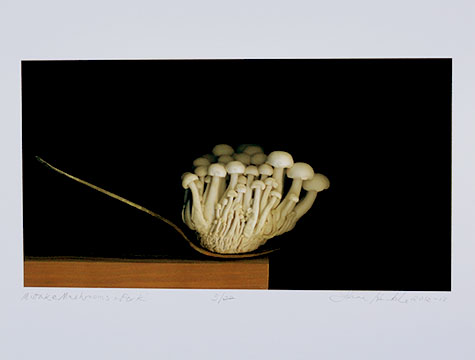 Miitake Mushrooms & Fork