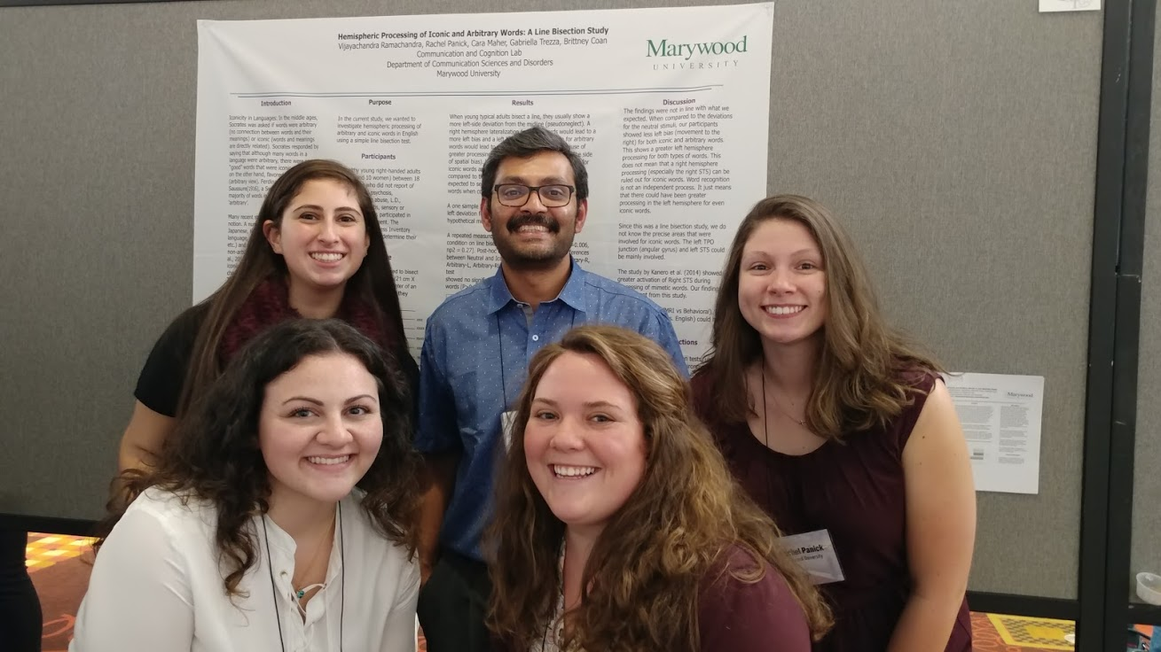 CSD students present research in Baltimore