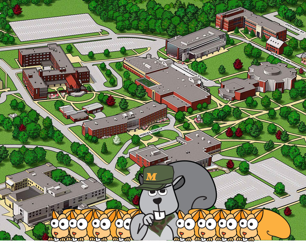 squirrel tour marywood campus map
