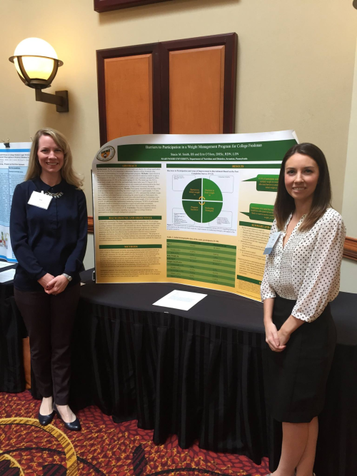 Students exhibiting at the Pennsylvania Academy of Nutrition and Dietetics Annual Meeting and Exhibition