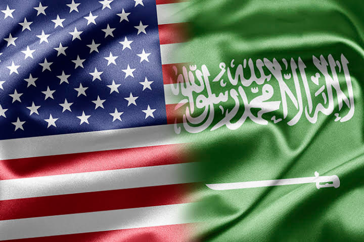 saudi american flag together