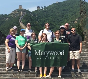 The Wind Ensemble Posing at the Great Wall in China
