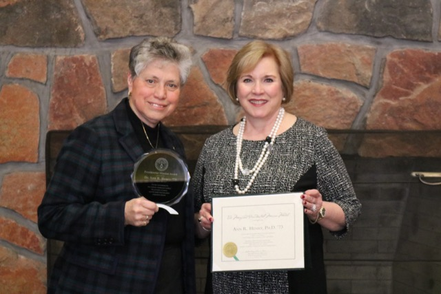 (Left to right) Sister Mary Persico, IHM, Ed.D., President of Marywood University, and Ann R. Henry, Ph.D., recipient of the Presidential Mission Medal