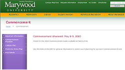 commencement web page