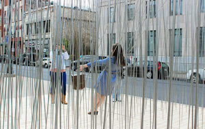 girls in wire strcuture