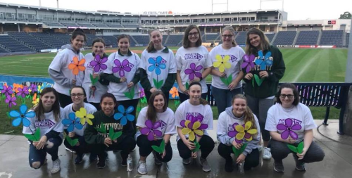 csd students at Alzheimer's Walk 2017