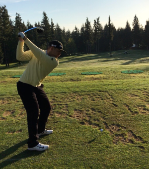Nick Biondi at the Canadian PGA Tournament in Vancouver