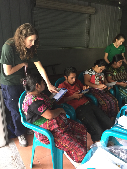 Jess at training students in Guatemala