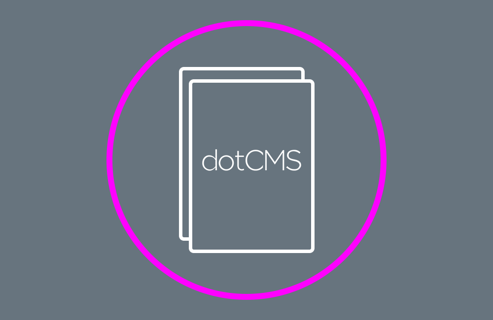 dotcms document in circle