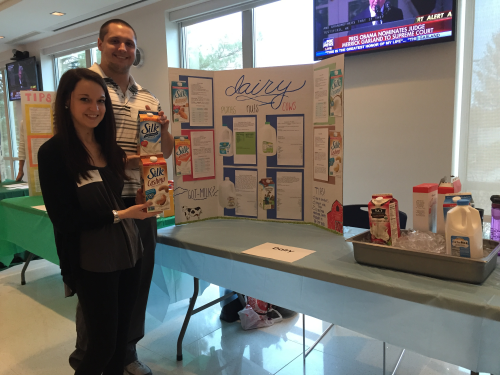 Student exhibiting at the MetLife Health Fair