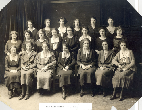 Bayleaf Staff 1921 at Marywood College