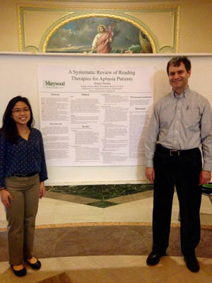 Abigail Nicolas and advisor Dr. Bruce Wisenburn present research