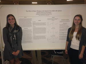 Samantha Michael and Polina Odegova present research