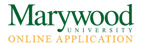 Apply to Marywood using our official online application