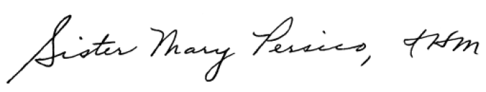 Sister Mary Persico Signature
