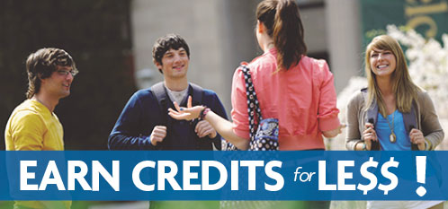 Earn Credits for Less