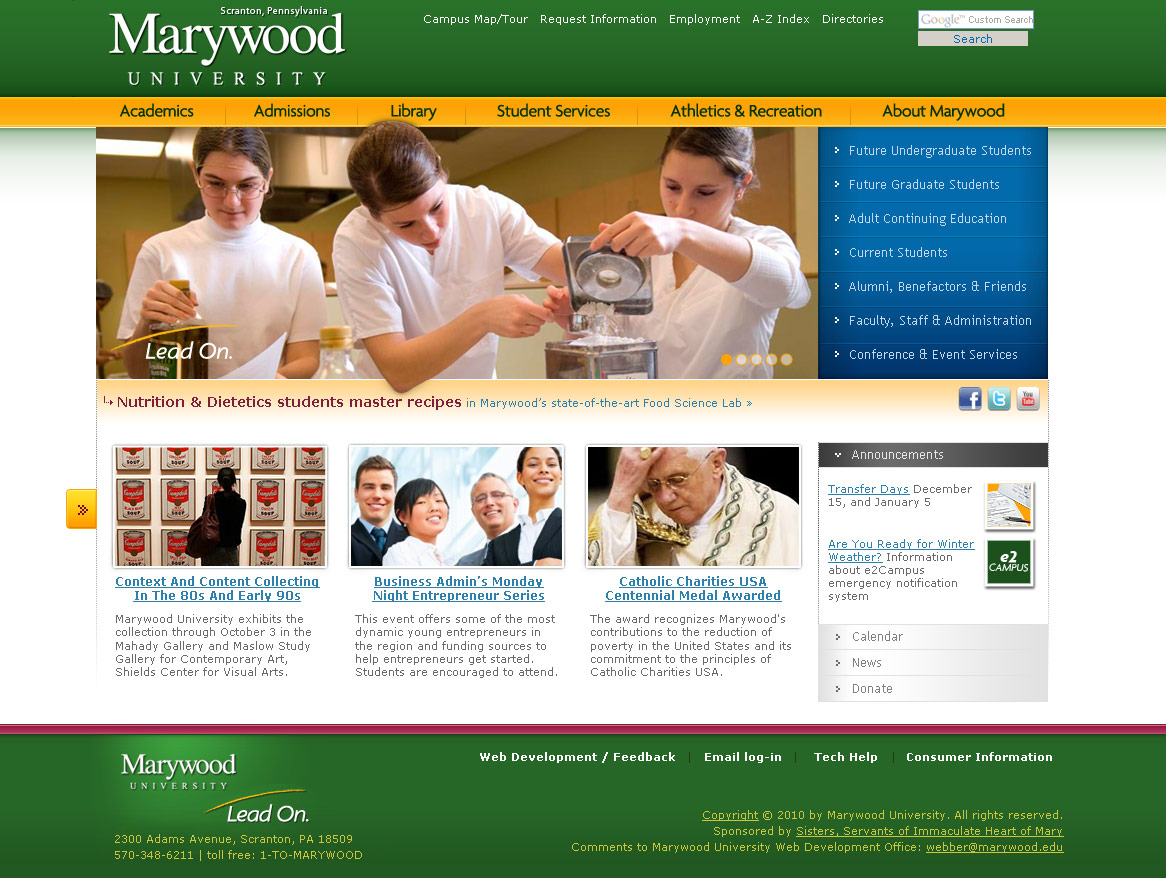 Marywood Homepage