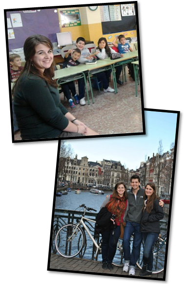 One of the perks of living in Spain is the ability to travel and see Europe. Here Monica is pictured with her friends in Amsterdam enjoying a long weekend.