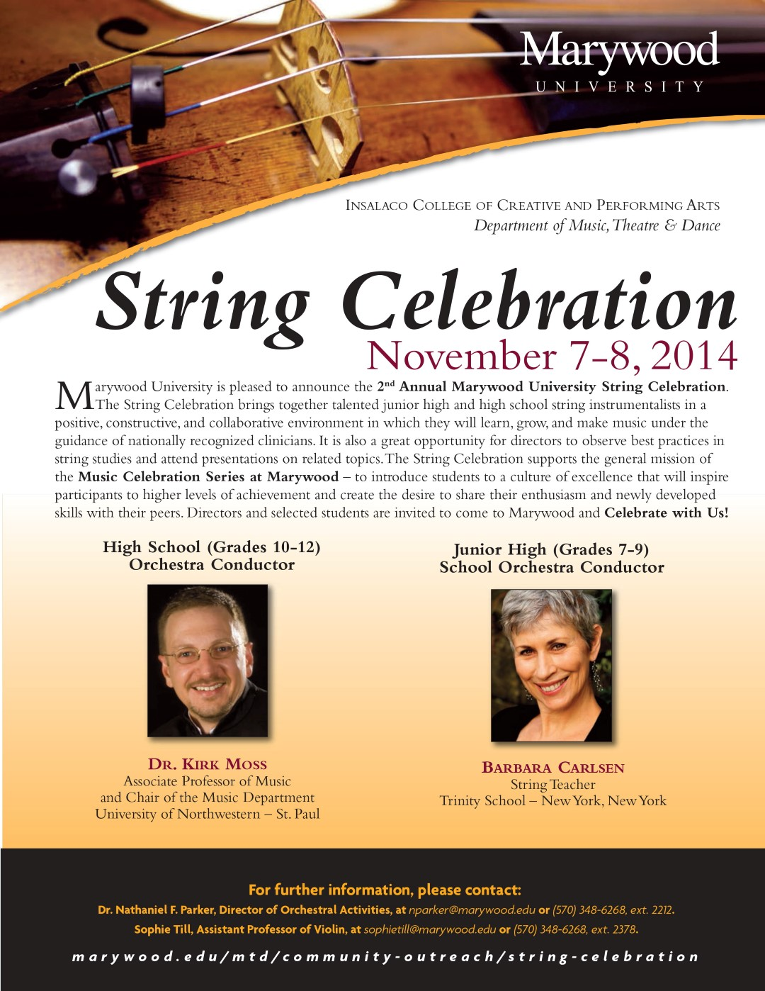 String Celebration Flier