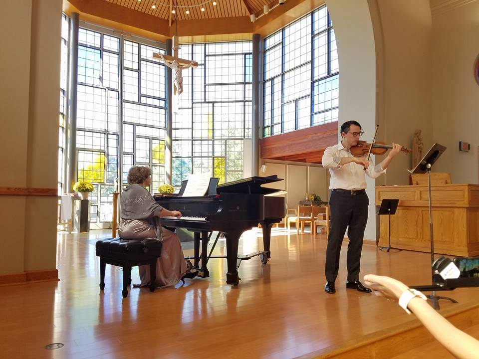 Nina Kouznetsov and Val Bourgeon, Violin Recital with a Twist