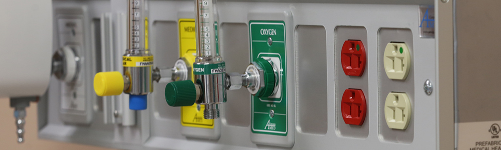 Hospital Room Equipment Panel